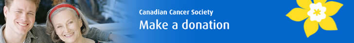 Make a donation to the Canadian Cancer Society