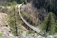 One of new bridges on the Kettle Valley Railway