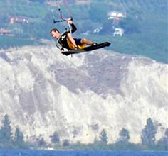 Kiteboarding on Okanagan Lake