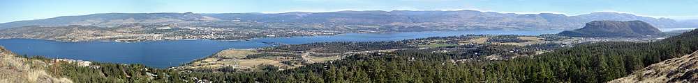 Panarama of Okanagan Lake