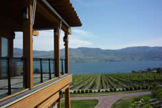View of lake from Quails' Gate Winery